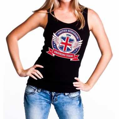Zwart united kingdom drinking team t shirt zonder mouw/mouwloos shirt