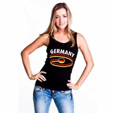 Zwarte dames t-shirt zonder mouw Duitsland