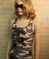 City camouflage dames tanktop zonder mouw