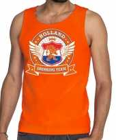 Oranje holland drinking team tankop mouwloos shirt heren zonder