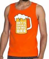 Oranje is oranje wil bier t-shirt zonder mouw mouwloos shirt heren
