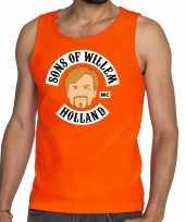 Oranje sons of willem t shirt zonder mouw mouwloos shirt heren