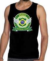 Zwart brazil drinking team t-shirt zonder mouw mouwloos shirt heren