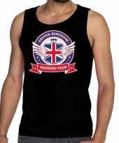 Zwart engeland drinking team t-shirt zonder mouw mouwloos shirt heren
