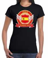Zwart spain drinking team t shirt dames zonder mouw